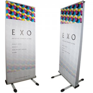 Exo outdoor banner stand